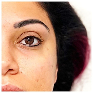 Healed brows✔️, Upper lid lash enhanceme
