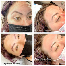 Ombre Powder to Combination Brows