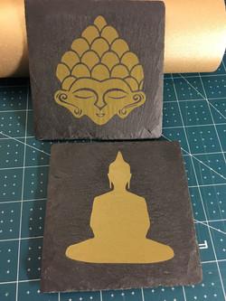 Slate Buddha Coasters