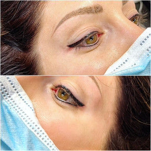 Upper/lower eyeliner with wing