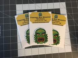 Sea Monster Stickers