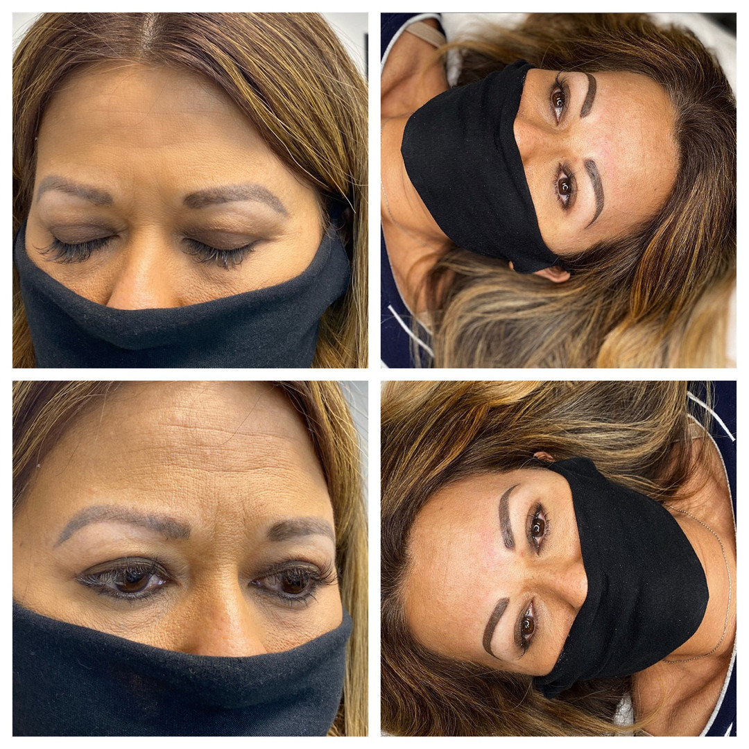 Brow Correction of poorly shaped Microblading results