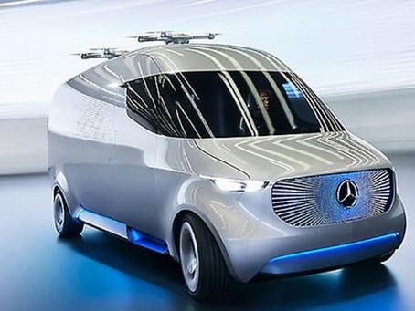 Le Van Mercedes-Benz Vision envoie ses drones en livraison sur le dernier km.