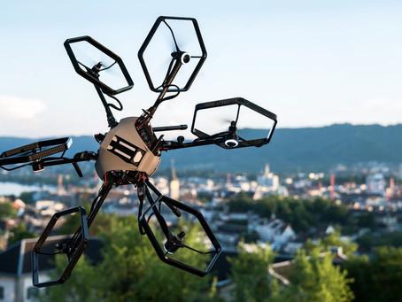 Le Drone Prototype de Voliro propose un Héxacoptère avec des axes de Rotors Orientables