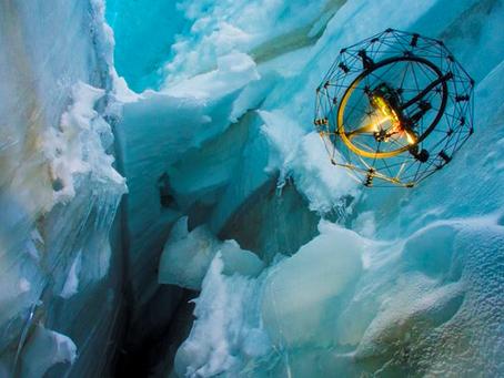 Un Drone au secours des Grimpeurs dans les crevasses glaciaires