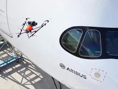 Un Drone aide AIRBUS à Inspecter ses Avions