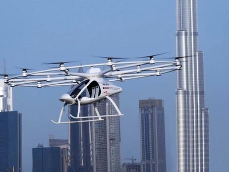 Le premier vol sans pilote du Volocopter sur Dubaï