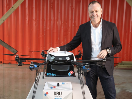 Le drone Domino donne un nouveau sens à « la pizza dans le ciel »
