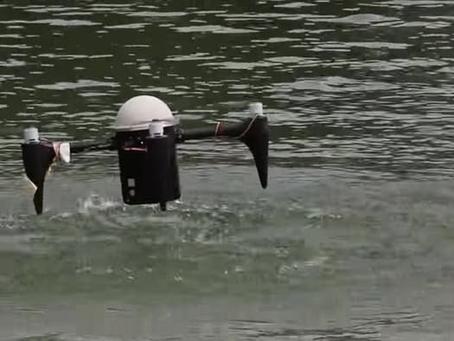 Un Drone Amphibie qui sait sortir de l'eau