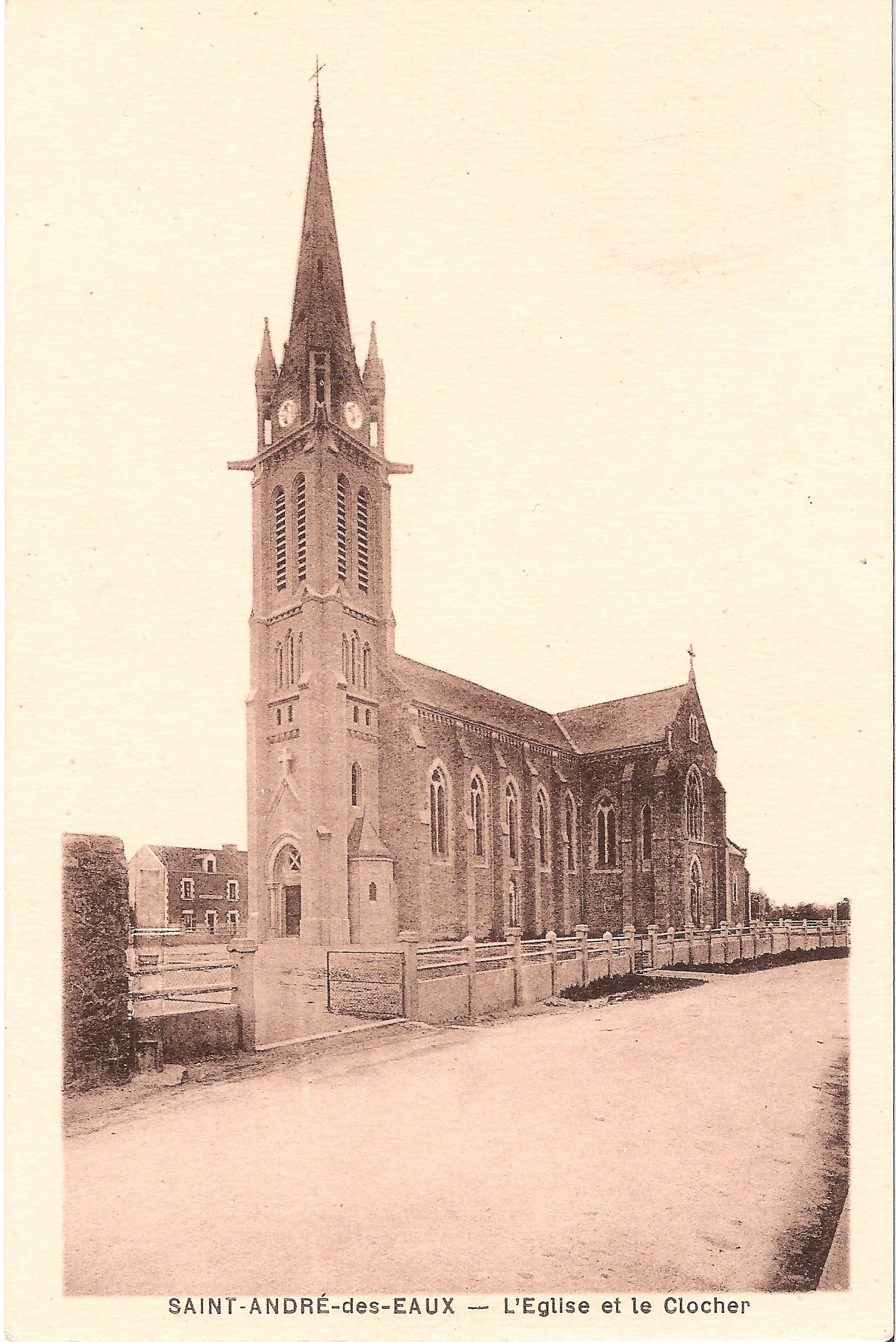 SAINT-ANDRE-des-EAUX - L'Eglise et le Clocher
