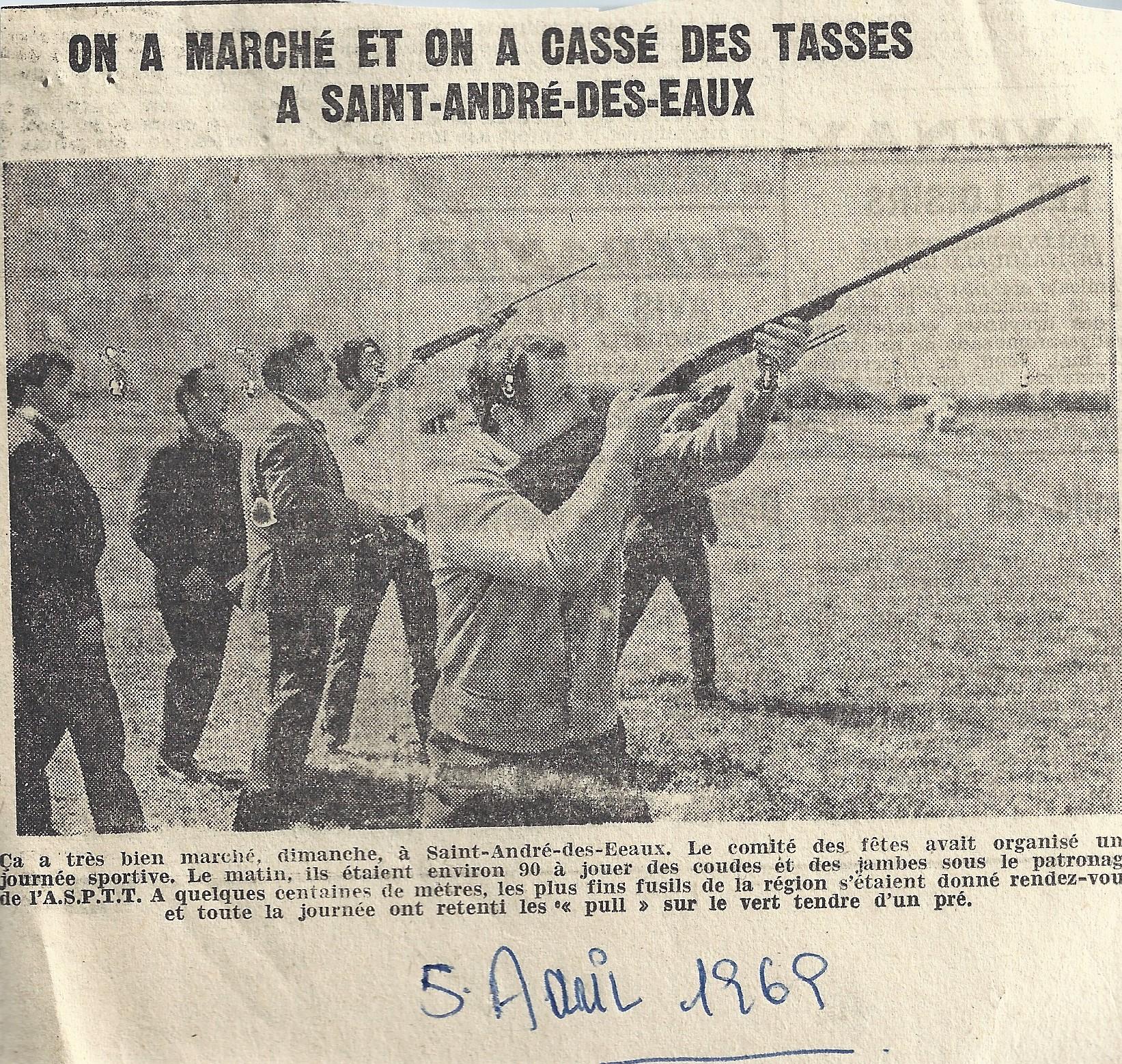 COMITE DES FETES  5 AVRIL 1969