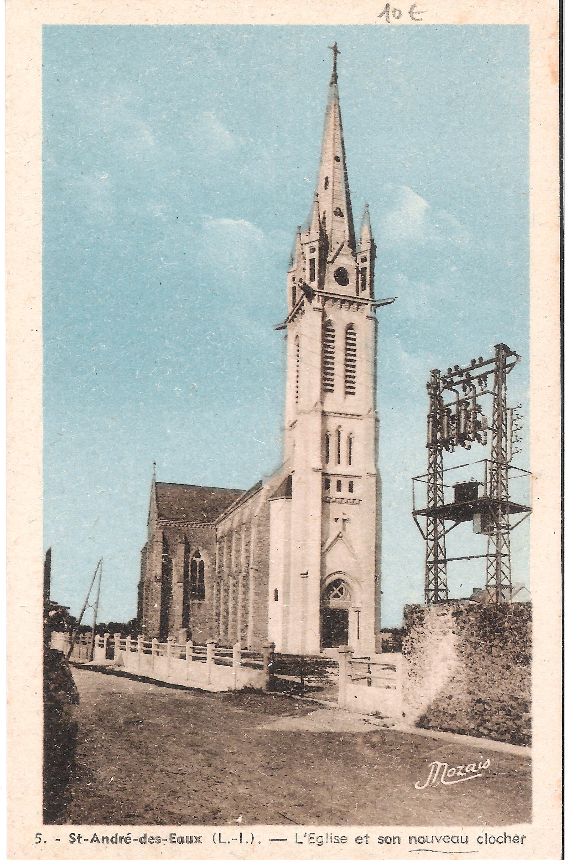 5 St-ANDRE-des-EAUX - L'Eglise et son nouveau clocher