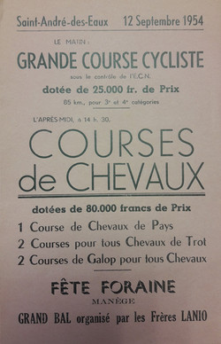 courses de chevaux 1954