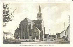 Saint_André_des_Eaux_L'Eglise_et_rue_de_la_poste_