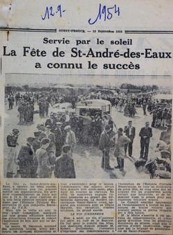 1954 fête St André