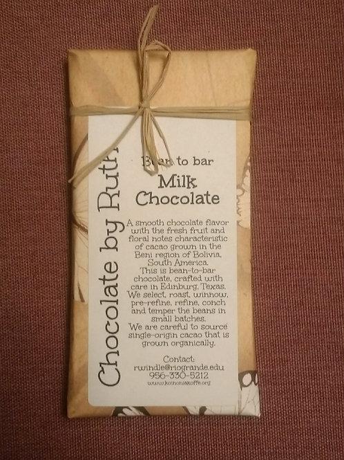 Mocha chocolate with almonds