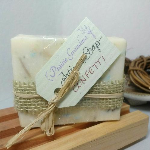 Confetti artisan soap