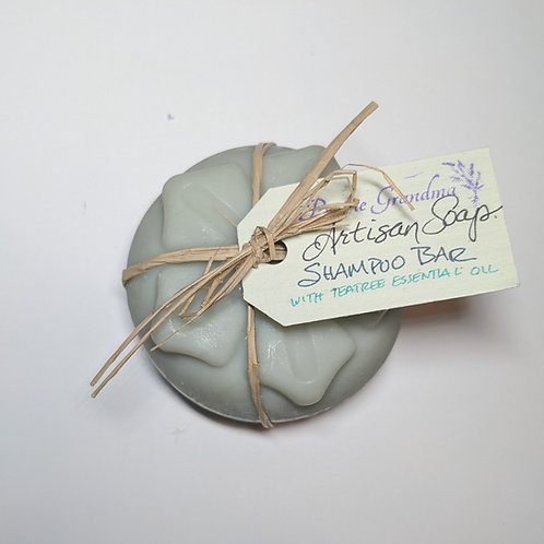 Shampoo bar with teatree essential oil
