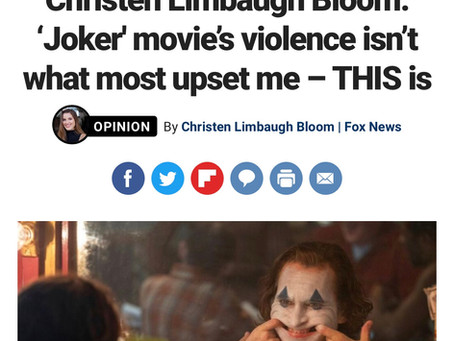 """""""Joker"""" Movie's Violence Isn't What Most Upset Me--THIS is"""
