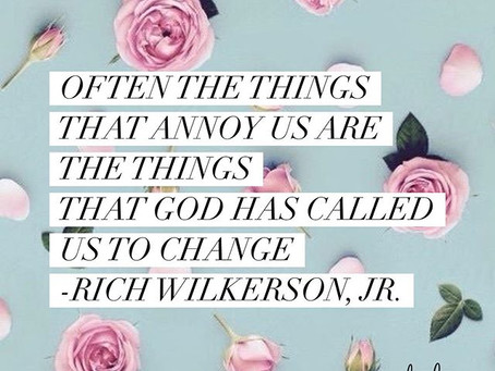 CONSIDER: Often the Things that Annoy You Are the Things God Has Called You to Change