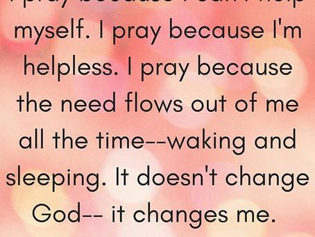 Babysteps for the Girl Who's Avoiding Saying Her Prayers