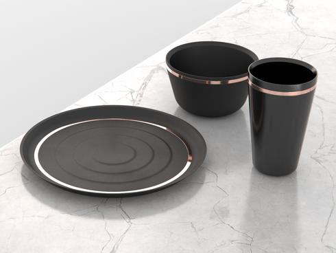 Black&Copper - Dinnerware Set