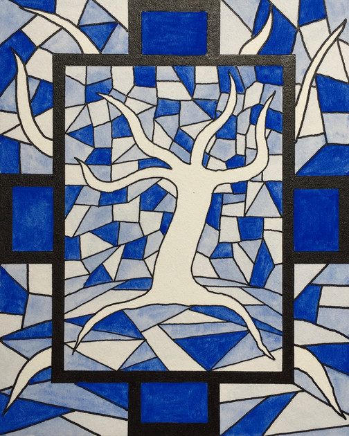 Stained Glass Seasons_ Winter