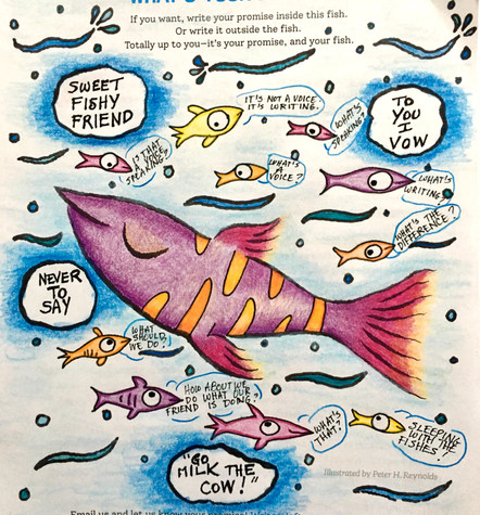 Fish Wish coloring and text