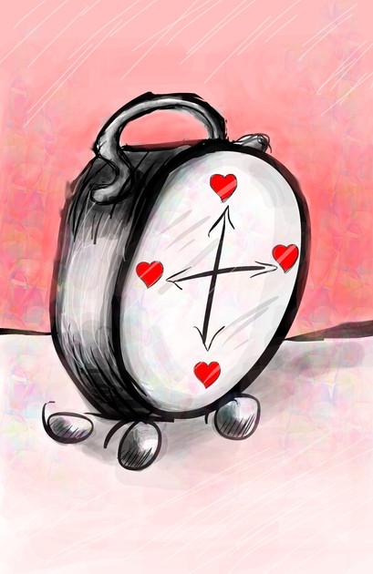 Tick Tock Heart Clock