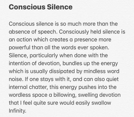 Conscious Silence