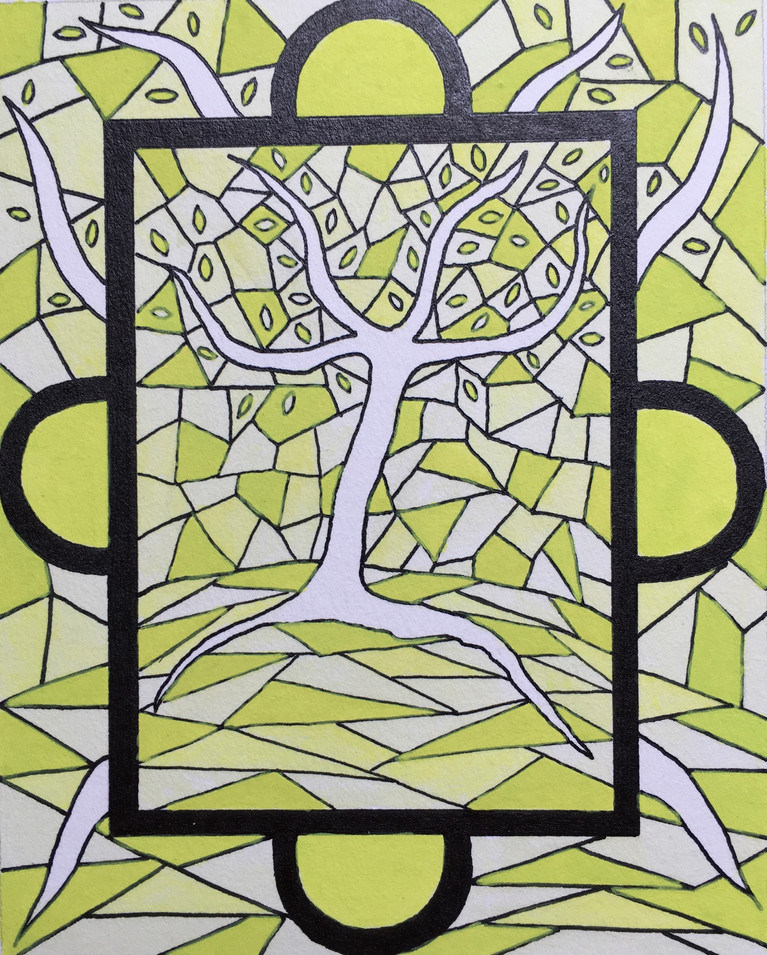 Stained Glass Seasons_ Spring