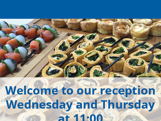Reception Wednesday and Thursday