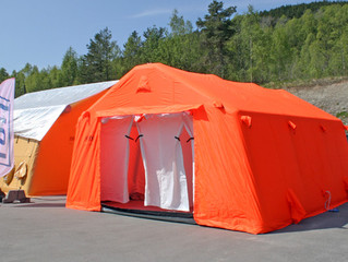 New shower tent!
