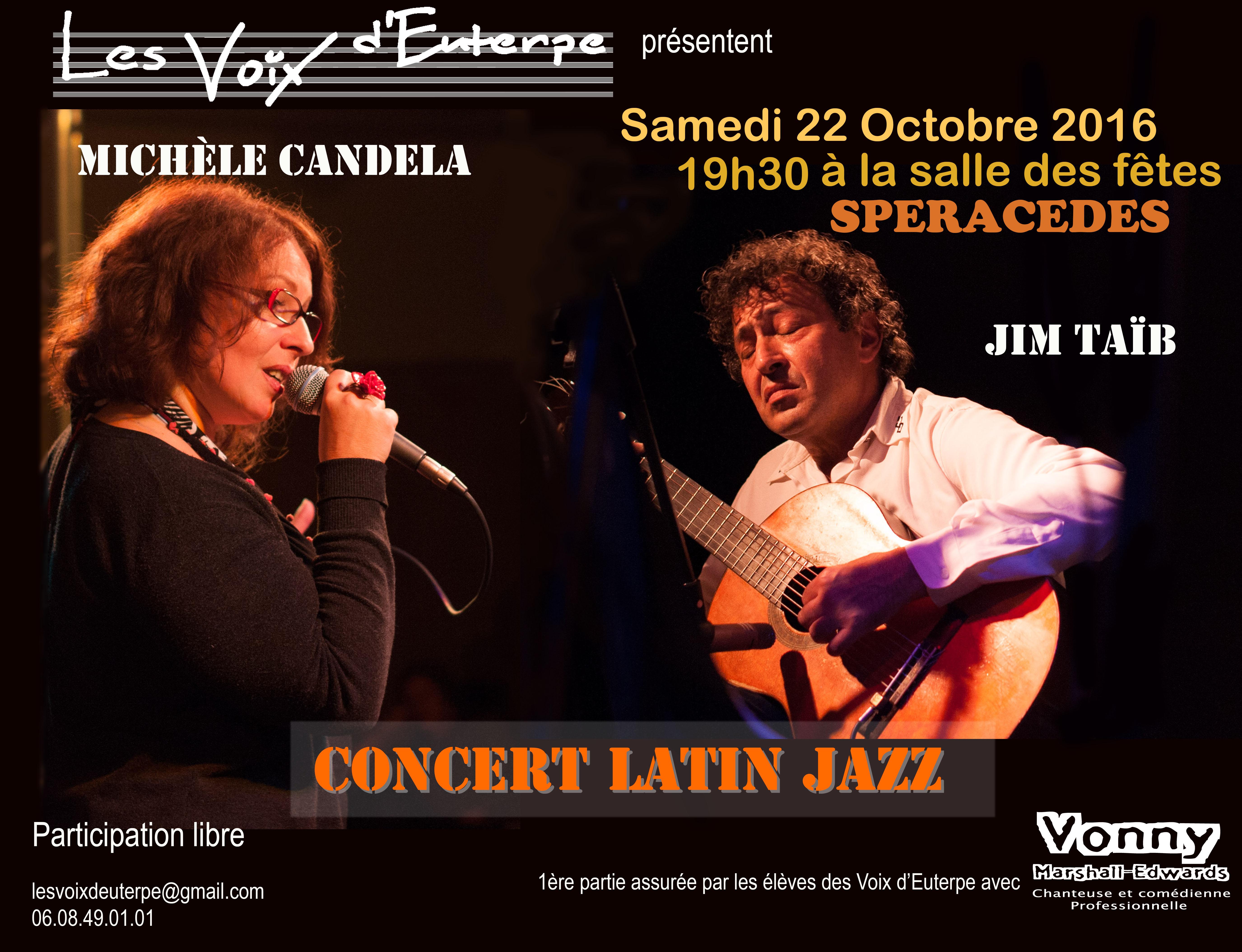 Affiche LatinJazz_Michele _Candela_LVE22
