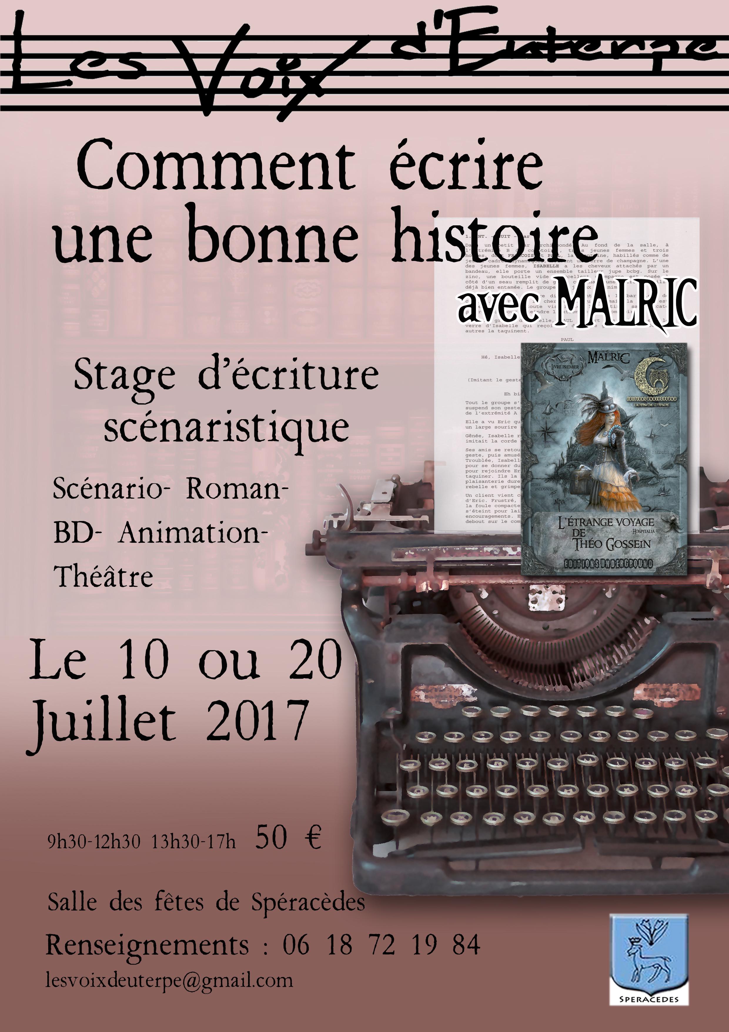 Affiche_LVE_Malric_stage_écriture-10&20-