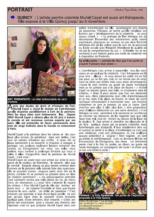 article Muriel Cayet Feuille de Vignes.j