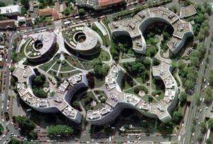 Vue aérienne de la résidence Panoramis