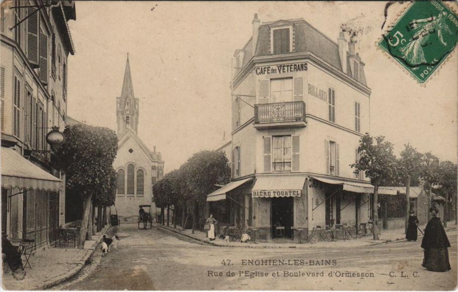 Angle rue de l'Eglise et Boulevard Ormesson
