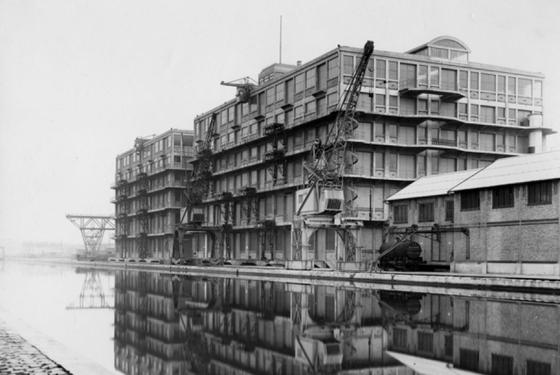 Carte postale – Pantin, le port, avant 1945