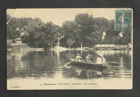 Passeur de l'île Fleurie. Carte postale, 1900.
