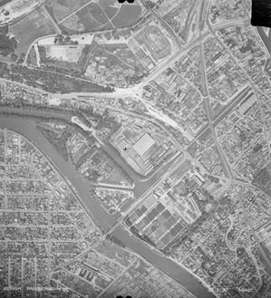 Vue aérienne de l'ancien canal de Saint-Maurice