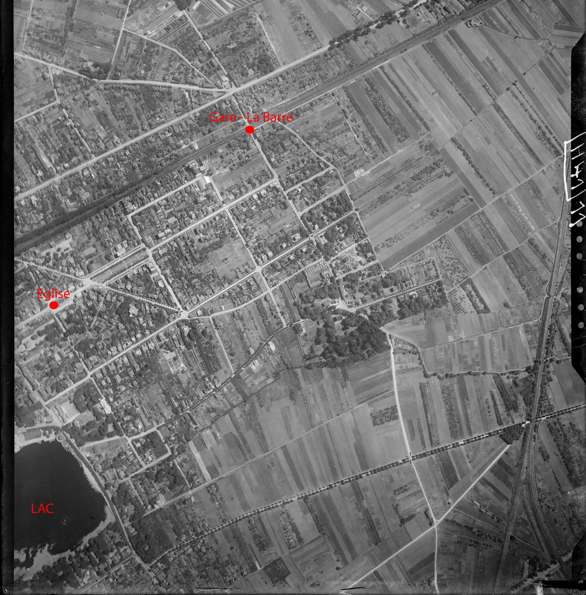 Photographie aérienne d'Enghien-les-Bains en 1921