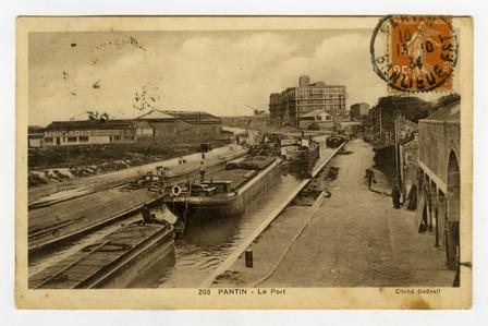 Carte postale, Pantin, le port. 1930-1935