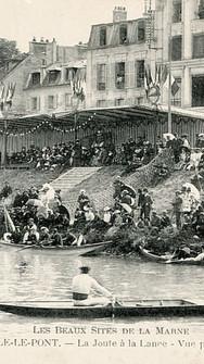 Baignade, canotage, promenade, pêche ou encore concours d'aviron, régates, joutes : la Marne est alors un formidable terrain de jeu aquatique.