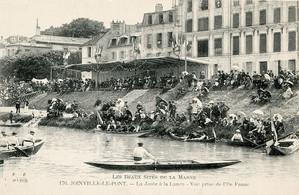 La Marne un jour de régates (carte postale)