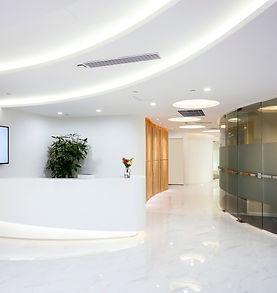 Company reception desk, space indoor pho
