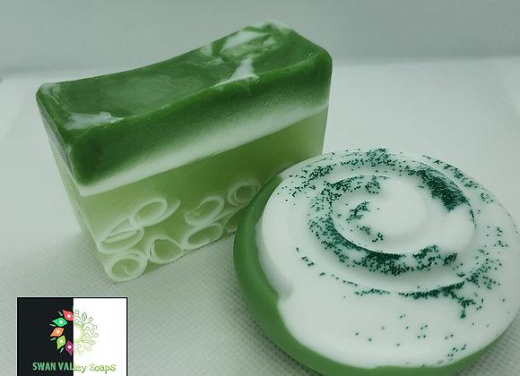 Lemongrass Secret Circles Block Soap