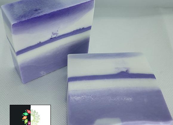 Lavender Stripe Swirl Block