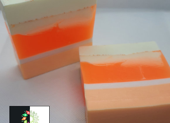 Sweet Orange Stripe Swirl Block