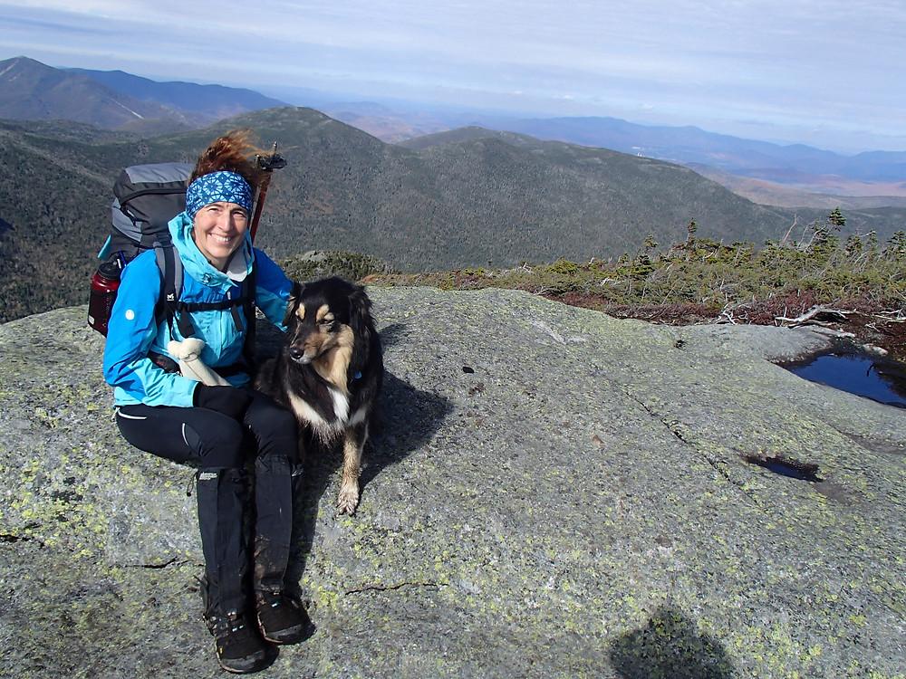 Au sommet avec mon chien - Adirondacks
